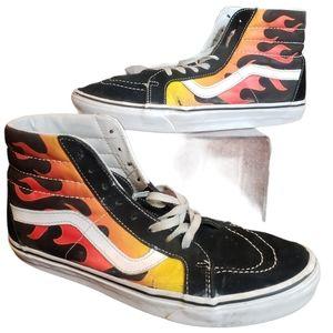 VANS Women's High Top Flames Collection snea…